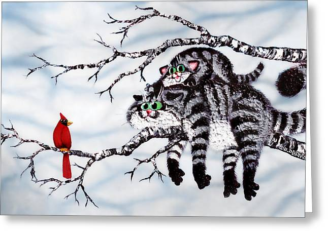 Out On A Limb Greeting Card by Baron Dixon