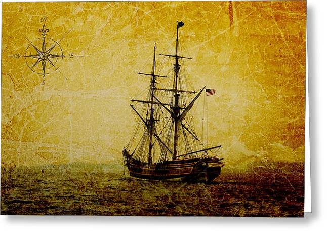 Buccaneer Greeting Cards - Out to Sea Greeting Card by Steve McKinzie