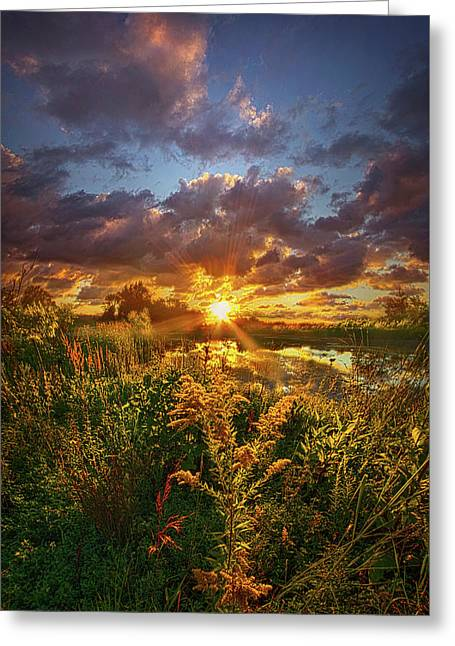 Out Where Only Dreams Have Been Greeting Card by Phil Koch