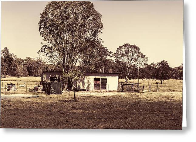 Outback Country Australia Panorama Landscape  Greeting Card by Jorgo Photography - Wall Art Gallery