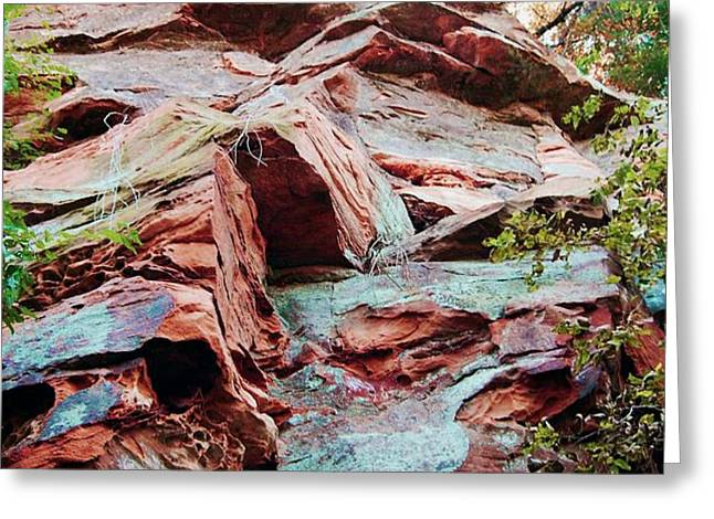 Outcrop at Wildcat Den Greeting Card by Jame Hayes