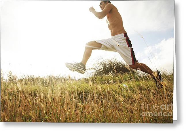 Outdoor Jogging III Greeting Card by Brandon Tabiolo - Printscapes