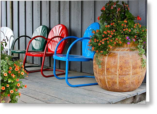 Lawn Chair Greeting Cards - Outdoor Living Greeting Card by Karon Melillo DeVega