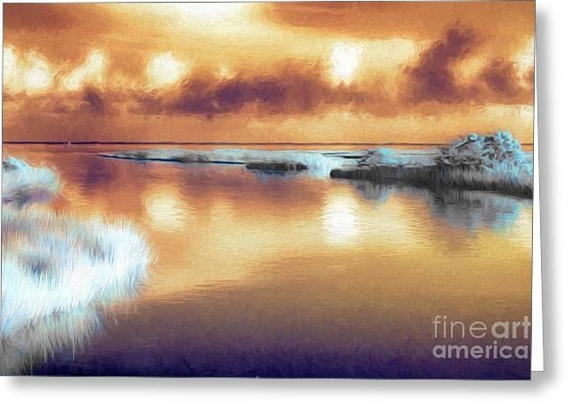 Ocean Photography Paintings Greeting Cards - Outer Banks Memories 2 AP Greeting Card by Dan Carmichael