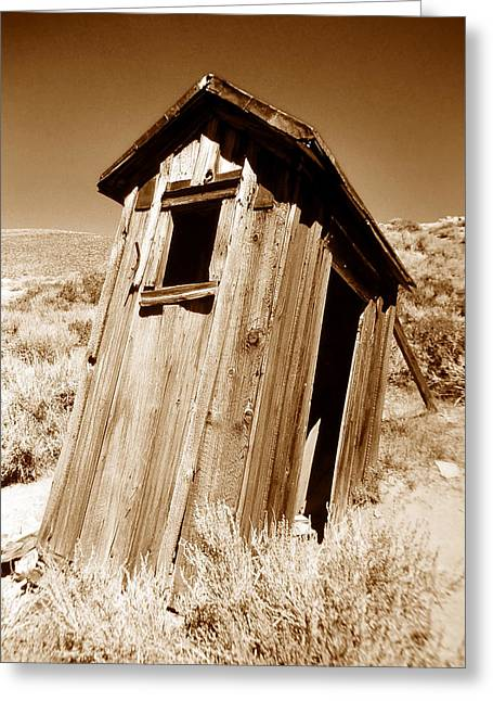 Old West Photography Greeting Cards - Outhouse at Bodie Greeting Card by David Lee Thompson