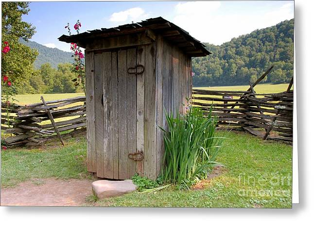 Outhouses Greeting Cards - Outhouse Greeting Card by David Lee Thompson