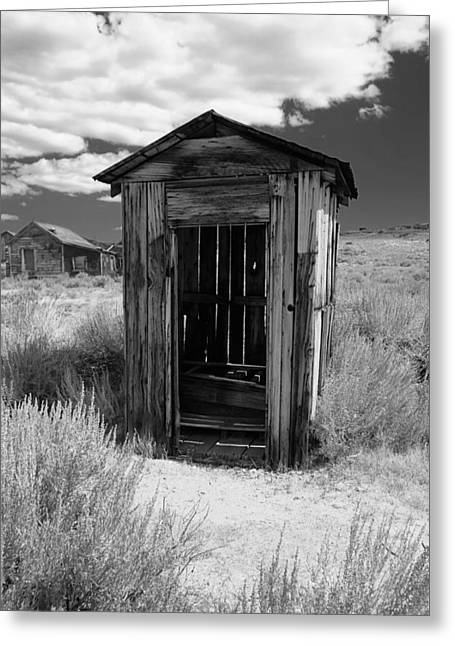 Sis Greeting Cards - Outhouse in Ghost Town Greeting Card by George Oze
