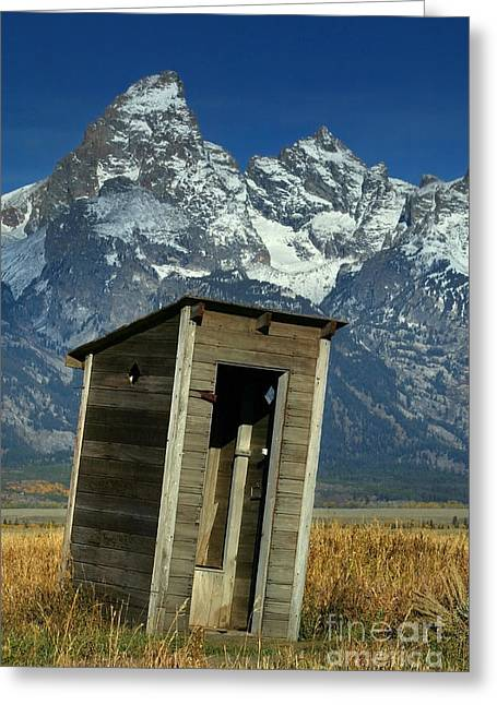 Outdoor Toilets Greeting Cards - Outhouse Greeting Card by Jean-Louis Klein & Marie-Luce Hubert