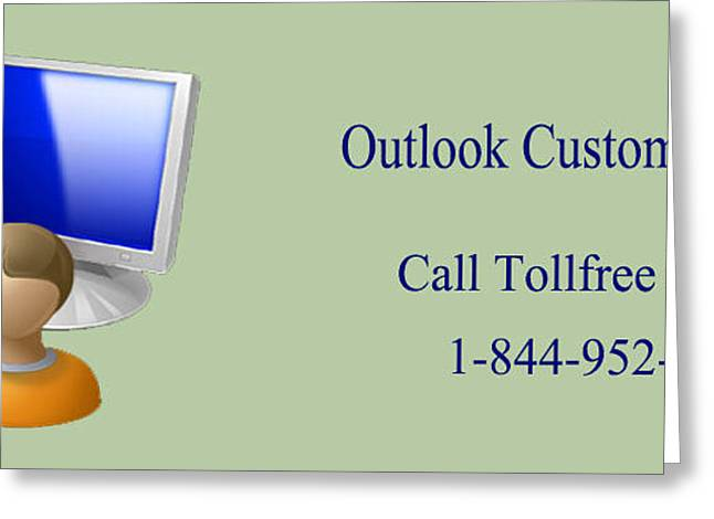 Outlook Greeting Cards - Outlook Customer Care Support Phone Number Greeting Card by Katharine Isabella