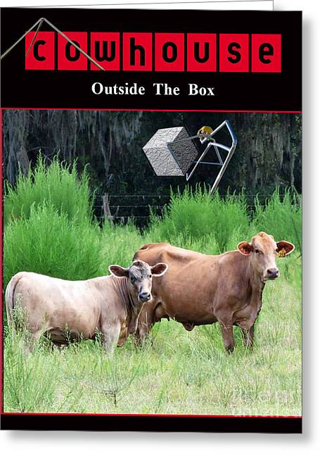 Outside Of The Box No. I Greeting Card by Geordie Gardiner