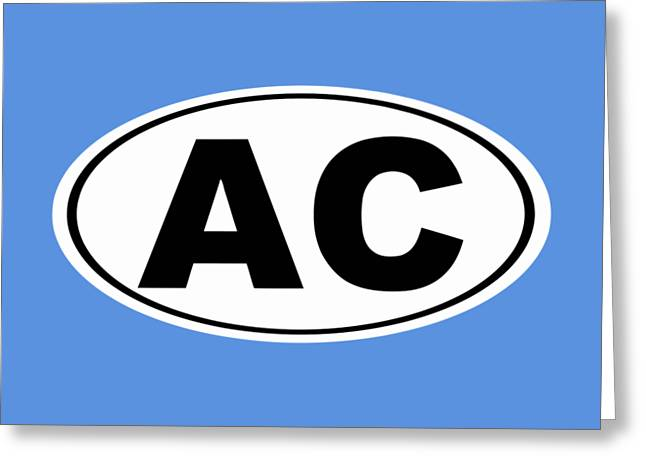 Oval Ac Atlantic City New Jersey Home Pride Greeting Card by Keith Webber Jr