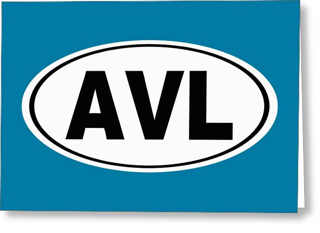 Oval Avl Asheville North Carolina Home Pride Greeting Card by Keith Webber Jr