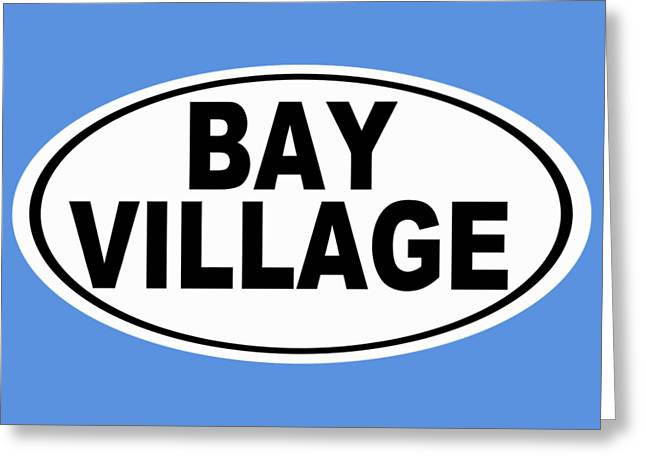 Oval Bay Village Ohio Home Pride Greeting Card by Keith Webber Jr