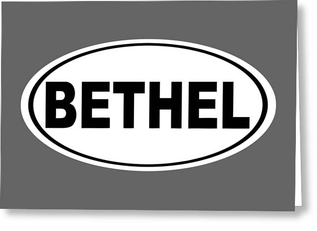 Oval Bethel Connecticut Home Prid Greeting Card by Keith Webber Jr