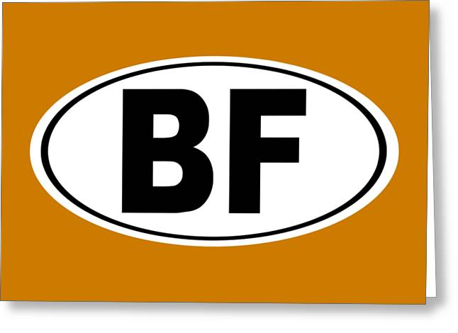 Oval Bf Beaver Falls Pennsylvania Home Pride Greeting Card by Keith Webber Jr