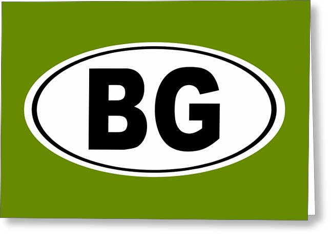 Oval Bg Bowling Green Kentucky Home Pride Greeting Card by Keith Webber Jr