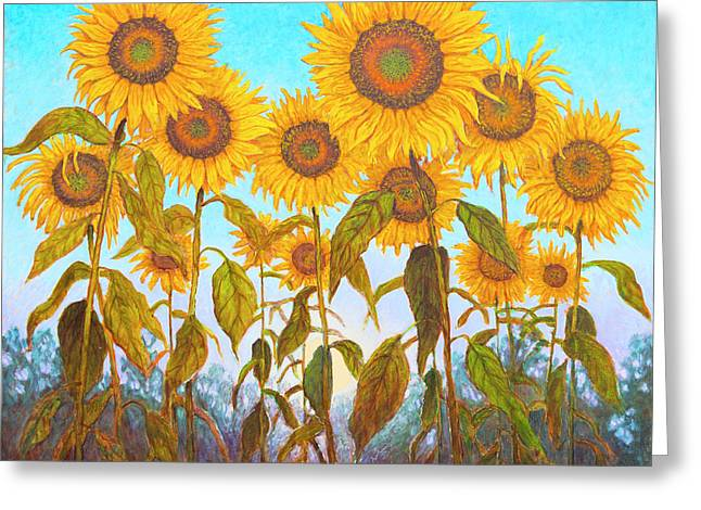 Ovation Sunflowers Greeting Card by Wiley Purkey