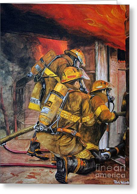 Gear Paintings Greeting Cards - Over Head Heat Greeting Card by Paul Walsh