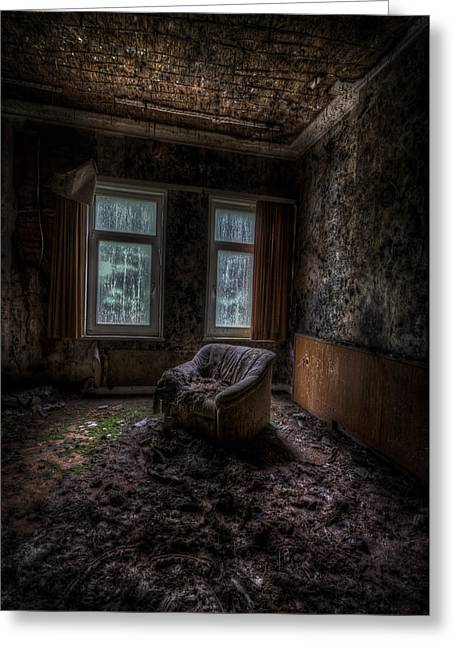 Empty Chairs Greeting Cards - Over looked sofa Greeting Card by Nathan Wright