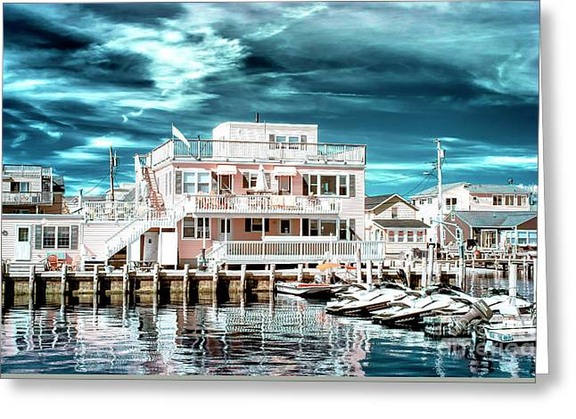 Over The Bay Infrared Greeting Card by John Rizzuto