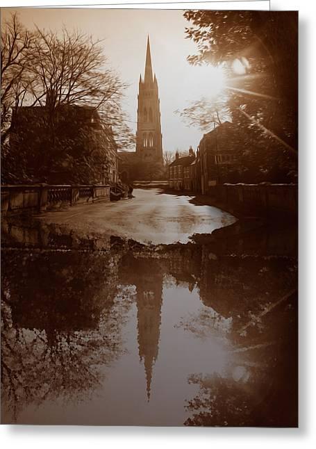 Market St Bridge Greeting Cards - Over The Bridge Greeting Card by Naomi Tebbs