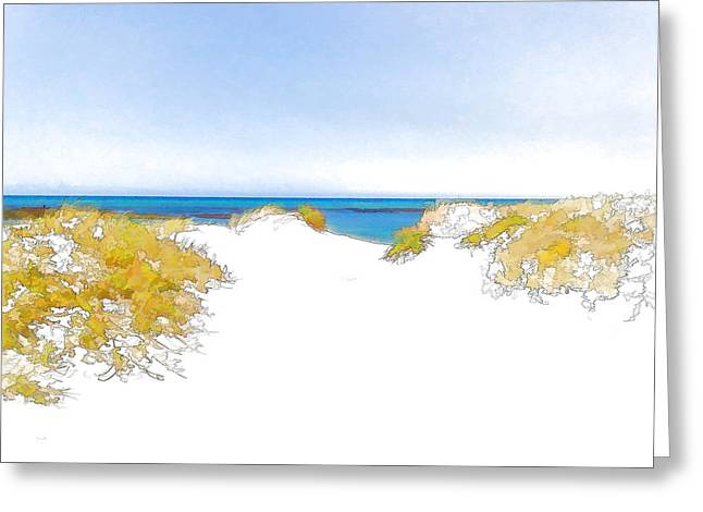 Over The Dunes 1 Greeting Card by Jan Hattingh