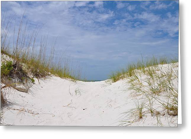 Over The Dunes To The Beach Greeting Card by Bill Cannon
