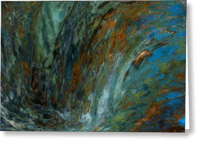 Spectrum Greeting Cards - Over The Edge Greeting Card by Jack Zulli