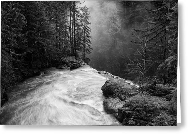 Fir Greeting Cards - Over The Falls Greeting Card by James K. Papp