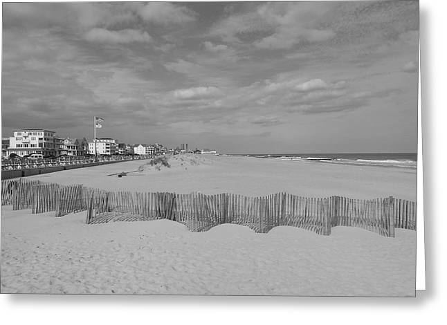 Ocean Grove Greeting Cards - Over the Fence Greeting Card by Joe  Burns