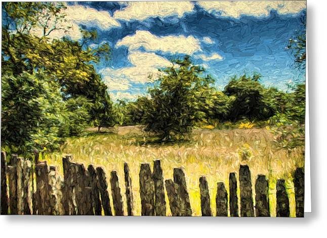 Sonoma County Digital Greeting Cards - Over the Fence Greeting Card by John K Woodruff