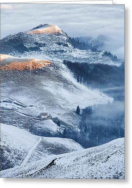 Central Balkan Greeting Cards - Over the Frosty Mist Greeting Card by Evgeni Dinev