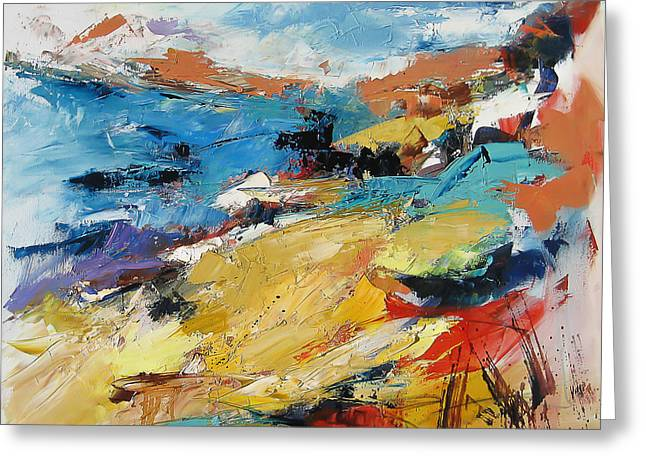 Over The Hills And Far Away Greeting Card by Elise Palmigiani