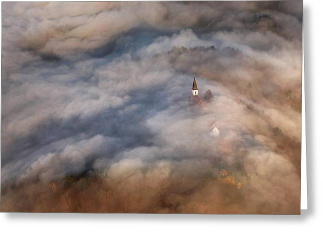 Flying Greeting Cards - Over The Hills Greeting Card by Matjaz Cater