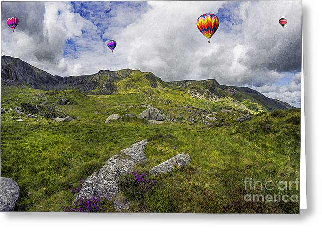 Nature Scene Digital Greeting Cards - Over The Mountains Greeting Card by Ian Mitchell