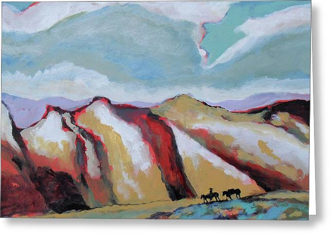Over The Mountains Greeting Card by Kip Decker