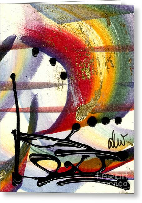 Survivor Art Greeting Cards - Over the Rainbow Greeting Card by Angela L Walker