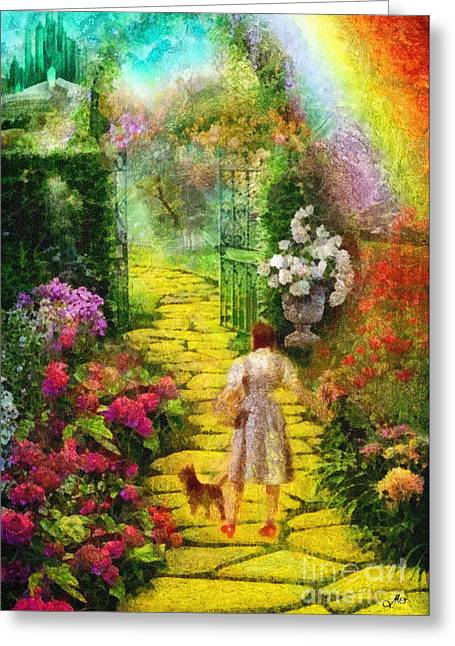 Over The Rainbow Greeting Card by Mo T