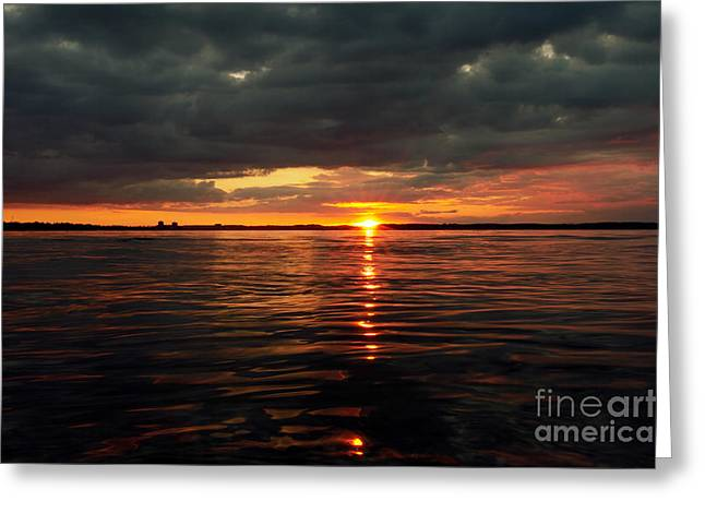Beach Photography Greeting Cards - Over the sea level Greeting Card by Tanja Riedel