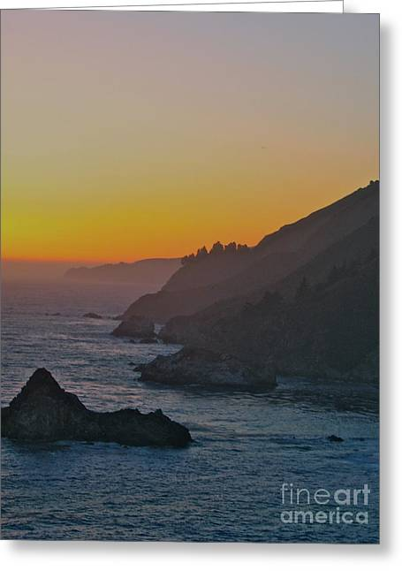 Gloaming Greeting Cards - Over the Verge Greeting Card by Maureen J Haldeman