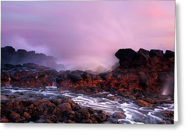 Poipu Greeting Cards - Overcome by the Tides Greeting Card by Mike  Dawson