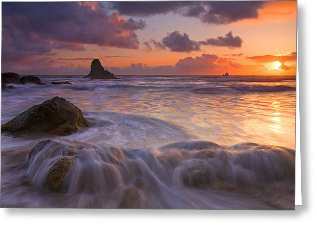 Beaches Greeting Cards - Overcome Greeting Card by Mike  Dawson