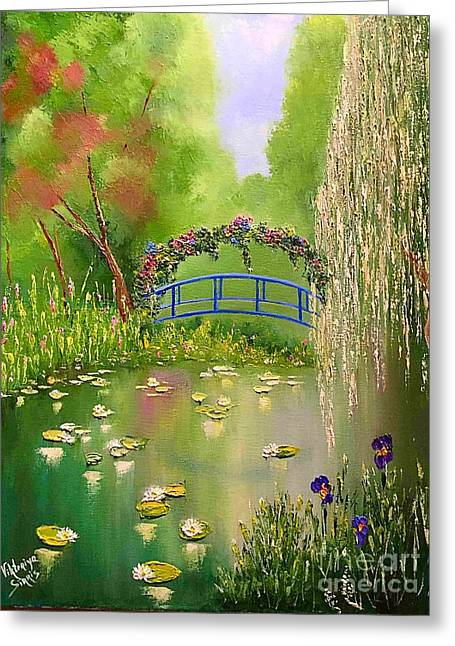 Overgrown Pond Greeting Card by Viktoriya Sirris