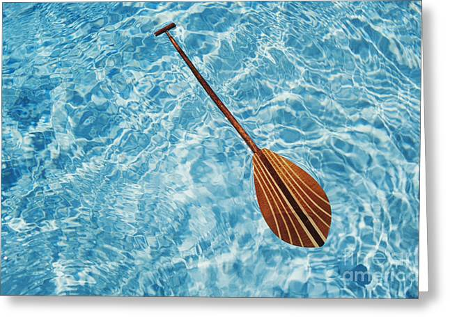 Overhead View Of Paddle Greeting Card by Joss - Printscapes