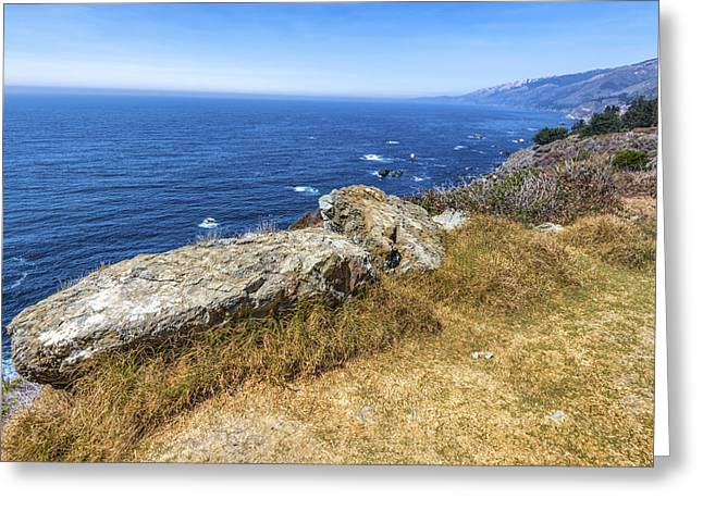 Big Sur California Greeting Cards - Overlook Greeting Card by Joseph S Giacalone