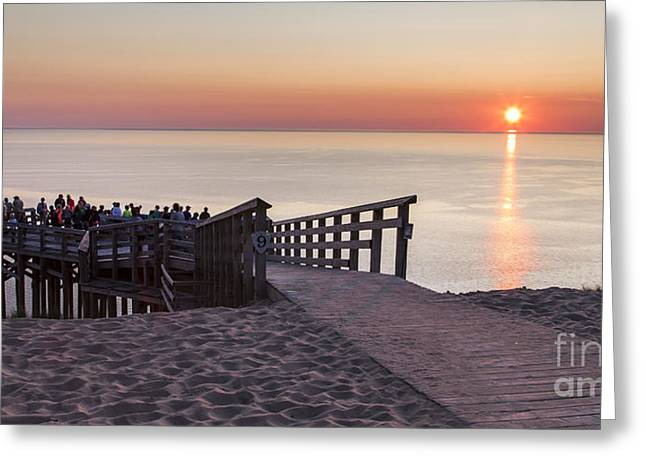 Scenic Drive Greeting Cards - Overlook Panorama at Sleeping Bear Dunes Greeting Card by Twenty Two North Photography
