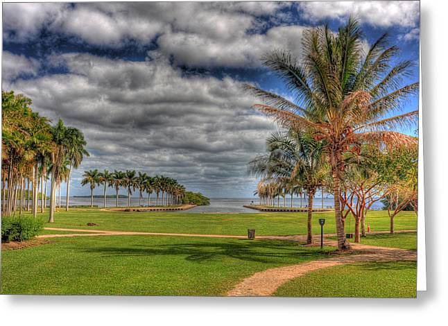 Biscayne Bay Greeting Cards - Overlooking Biscayne Greeting Card by Armando Perez