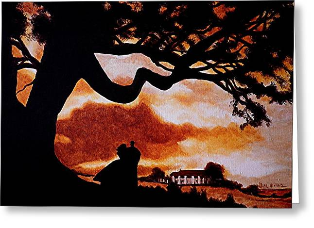 Home Greeting Cards - Overlooking Tara at Sunset Greeting Card by Al  Molina