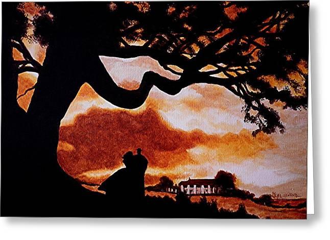 Overlooking Tara at Sunset Greeting Card by Al  Molina