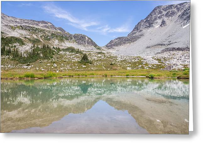 Butterlfy Greeting Cards - Overlord Trail Reflections Greeting Card by Vanexus Photography